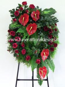 Corona funebre fiori artificili