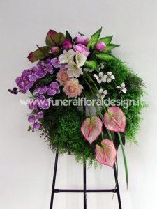 Corona funebre fiori artificiali