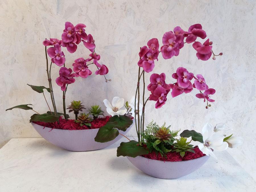 Fiori e piante artificiali camera ardente funerale