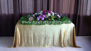 Arazzo copricassa fiori artificiali
