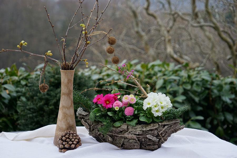 Composizione fiori invernali per cimitero