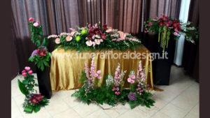 Addobbo fiori artificiali camera ardente funerale