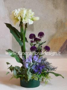 Composizioni funebre fiori artificiali decorativa a blocchi